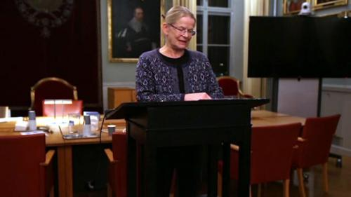"""Anna Skarhed delar med sig av """"Eftertankar av en före detta justitiekansler"""" på SvJT:s höstmöte"""