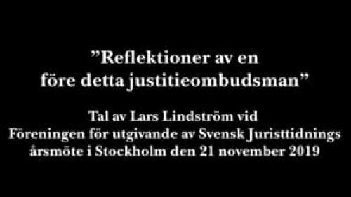 Lars Lindström om JO-rollen (endast ljud)